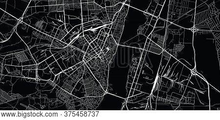 Urban Vector City Map Of Voronezh, Russia