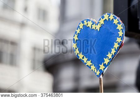 European Union Heart Banner. Pro European Brexit Banner