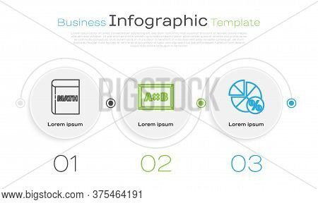 Set Line Triangle Math, Calculation And Equation Solution. Business Infographic Template. Vector