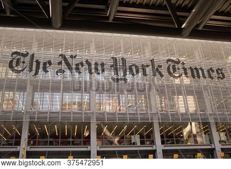 New York, Ny, Usa - January 20, 2020: Home Of The New York Times