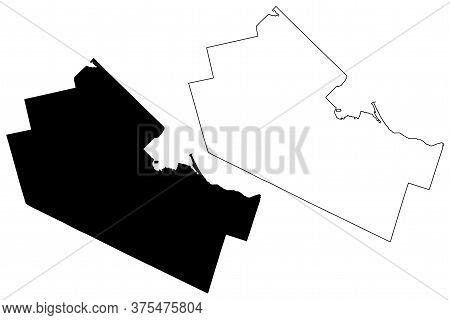 Hamilton City (canada, Ontario Province) Map Vector Illustration, Scribble Sketch City Of Hamilton M