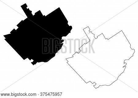 Quebec City (canada, Quebec Province) Map Vector Illustration, Scribble Sketch City Of Quebec Map