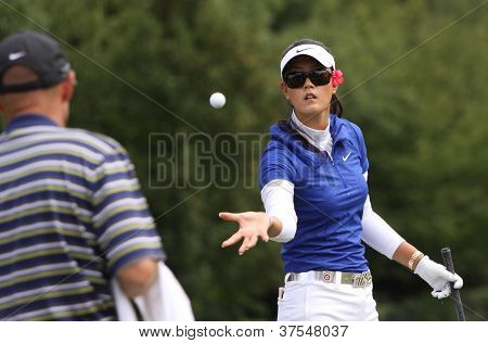 Michelle Wie at Evian Masters, July 22, 2012