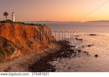 Ranchos Palos Verdes, California, USA at Point Vicente Light.