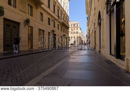 Deserted Landmarks And Streets Following The Lockdown In Rome, Italy