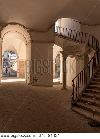 Rome, Italy - 16 Feb 2020: Palazzo Barberini Is A Papal Residence Of The Baroque Period, Famous For