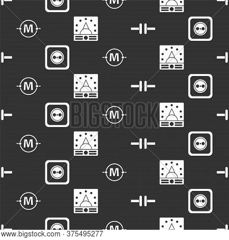 Set Electric Circuit Scheme, Electrical Outlet, Electric Circuit Scheme And Ampere Meter, Multimeter
