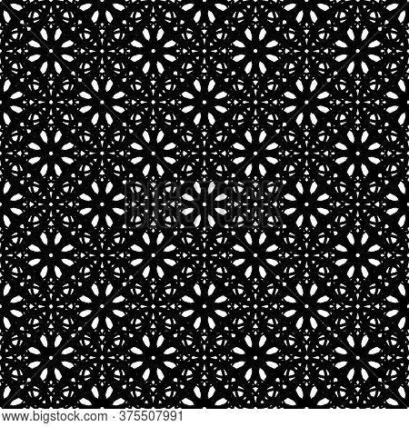 Black Lace Square Background