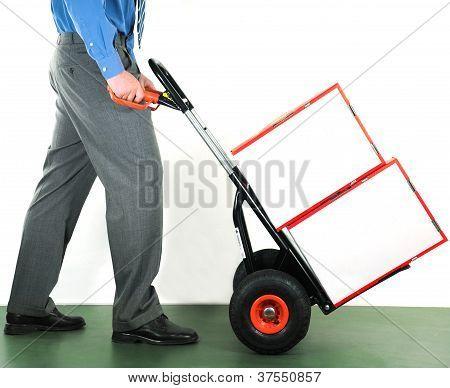 Businessman Doing Manual Work