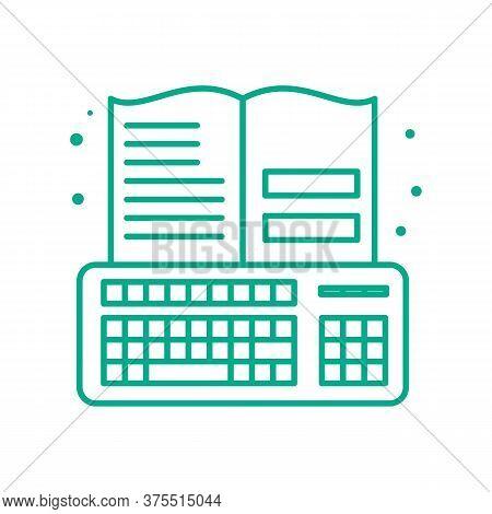 Online Education Vector Icon. Online Education Editable Stroke. Online Education Linear Symbol For U