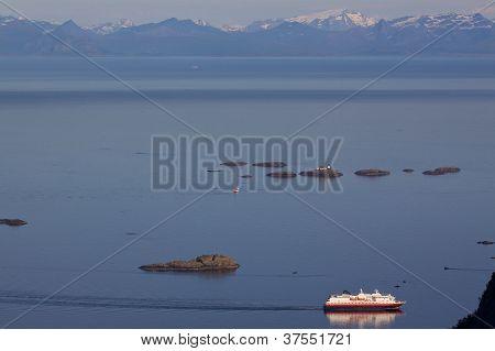 Passenger Ship In Norwegian Sea