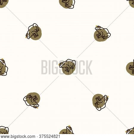 Seamless Background Frog Amphibian Gender Neutral Baby Pattern. Simple Whimsical Minimal Earthy 2 To