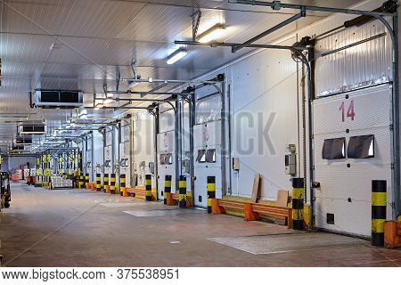St. Petersburg, Russia - October 10, 2016: The Area Of Loading And Unloading Docks In A Cold Grocery