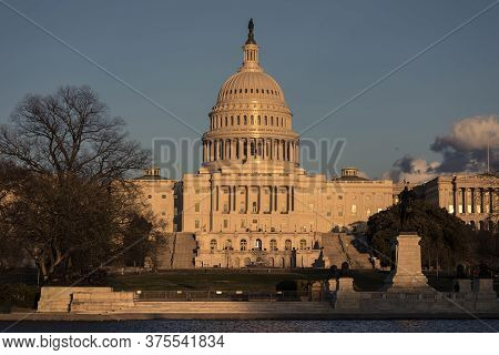 United States Capitol, Legislative Center Of The American State. Meeting Place Of The Us Congress, F