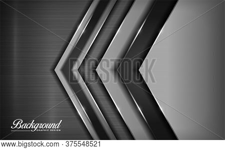 Luxury Dark Gray Abstract Geometry Modern Vector Background Images. Textured Overlap Layer Backgroun