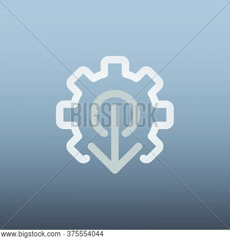 Arrow Icon In Trendy Flat Style Isolated On Grey Background. Arrow Symbol For Your Web Site Design,