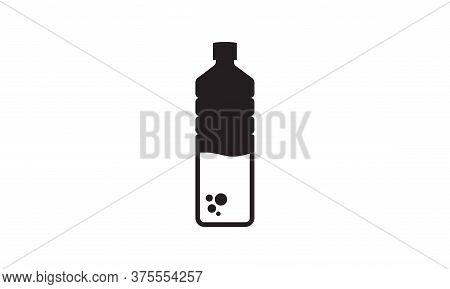 Water Bottle Icon, Flat Design Best Bottle Icon. Vector Illustration Of Bottle Of Water