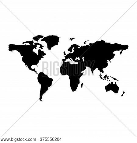World Map Vector Isolated On White Background. Flat Earth Map Vector. World Map Vector Illustrations