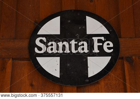 Wall, South Dakota, June 25, 2020:  The Logo Represents The Atchison, Topeka And Santa Fe Railway (r