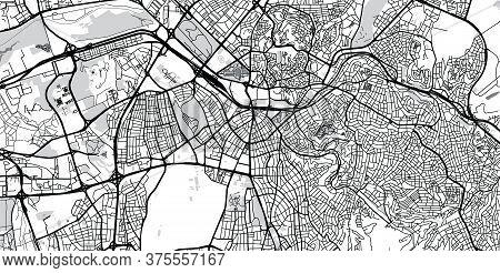 Urban Vector City Map Of Ankara, Turkey