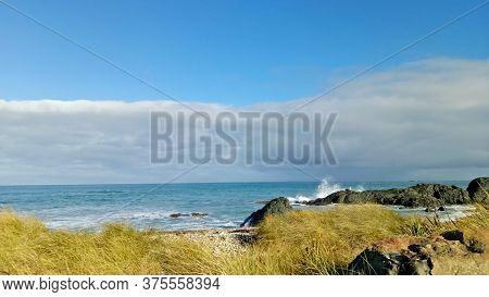 Beautiful Scenery At Riverton Beach Invercargill New Zealand