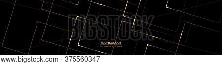 Black And Gold Wide Abstract Luxury Background. Vector Wide Background Can Be Used In Banner For Adv