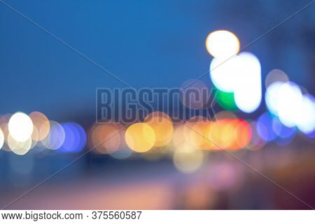 Bokeh Created By Lights Shot At Midnight