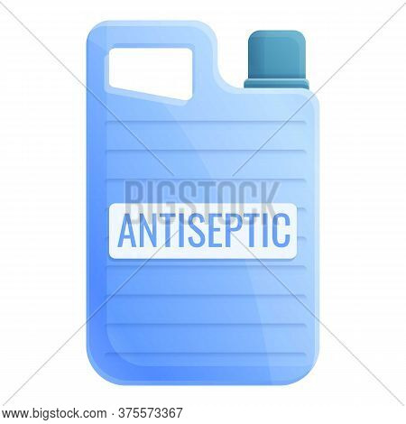 Antiseptic Canister Icon. Cartoon Of Antiseptic Canister Vector Icon For Web Design Isolated On Whit