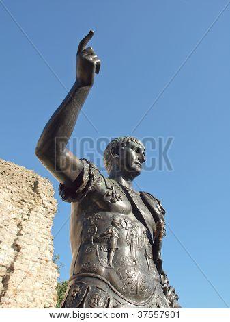 Ancient Roman monument of the Emperor Trajan London UK poster