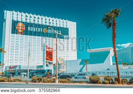 Main Street Of Las Vegas Is The Strip. Casino, Hotel Tropicana Resort.