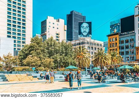 View Of The City Center, Union Square - Downtown Of San Francisco.