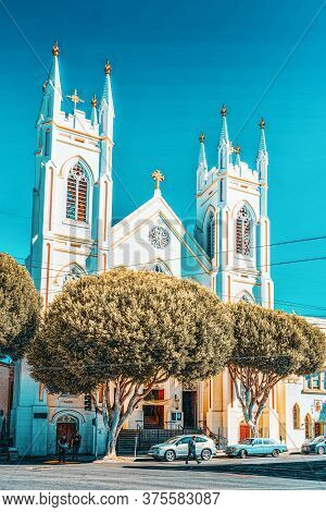 Saints Peter And Paul Church In  San Francisco.