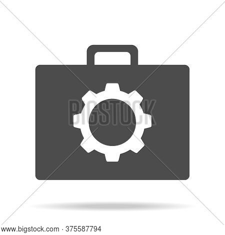Suitcase Of Tools. Tools Suitcase Icon Isolated On White Background. Vector Illustration. Vector.