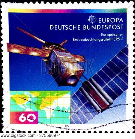 02 08 2020 Divnoe Stavropol Territory Russia The Germany Postage Stamp 1991 Europa Stamps - European