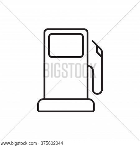 Gas Station Icon Isolated On White Background. Gas Station Icon In Trendy Design Style For Web Site