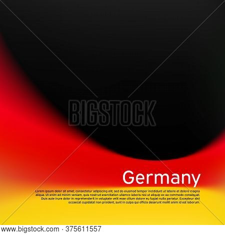 Blurred Pattern In The Colors Of The German Flag. Germany Flag Background. National Poster, Banner O