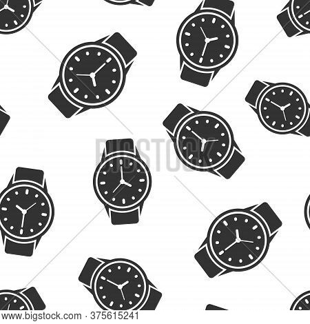 Wrist Watch Icon In Flat Style. Hand Clock Vector Illustration On White Isolated Background. Time Br
