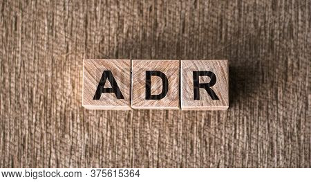 Letter Block In Word Adr - Adverse Drug Reaction On Table