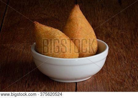 Coxinha. Traditional Brazilian Deep Fried Chicken Snack. Brazilian Food