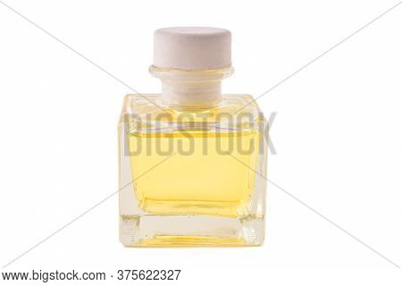 Perfume (diffuser Scent) Bottle Isolated On White With Clipping Path