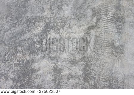 Textures Of Old Wall With Hole And Cracks For Background.