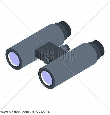 Headhunter Binocular Icon. Isometric Of Headhunter Binocular Vector Icon For Web Design Isolated On