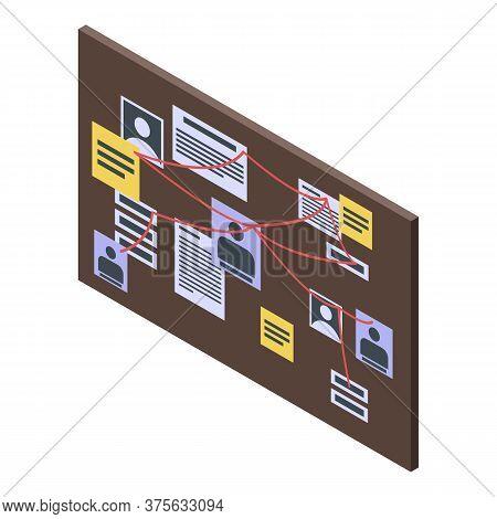 Recruiter Board Scheme Icon. Isometric Of Recruiter Board Scheme Vector Icon For Web Design Isolated