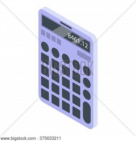 It Administrator Calculator Icon. Isometric Of It Administrator Calculator Vector Icon For Web Desig