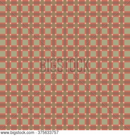 Rose And Green Plaid Christmas Wallpaper