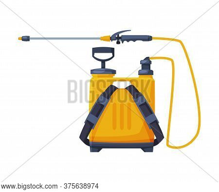 Orange Pressure Sprayer Of Chemical Insecticide, Pest Control And Extermination Service Equipment Ve