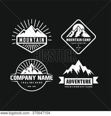 Collection Of Vintage Explorer, Wilderness, Adventure, Camping Emblem Graphics,mountains Logo Emblem