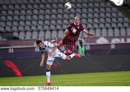 Torino (italy) , 08th July 2020. Italian Serie A. Simone Zaza Of Torino Fc    During The Serie A Mat