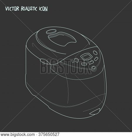 Electric Bread Baker Icon Line Element. Vector Illustration Of Electric Bread Baker Icon Line Isolat
