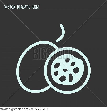 Passion Fruit Icon Line Element. Vector Illustration Of Passion Fruit Icon Line Isolated On Clean Ba